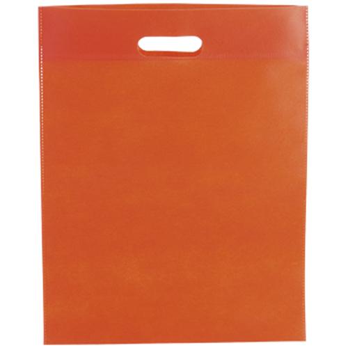 Bolsa non Woven asa troquelada naranja