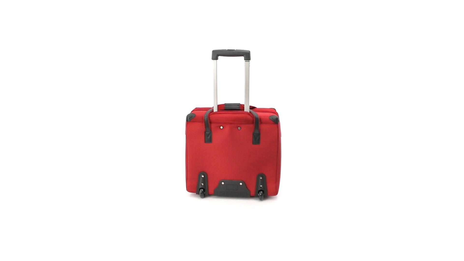 Trolley poliéster acolchado para portátil rojo atras