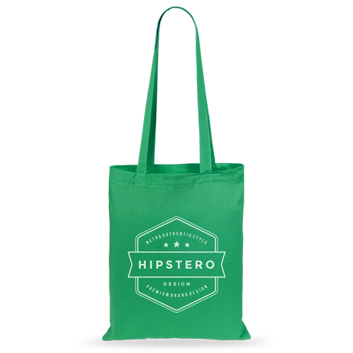 Bolsa algodón color verde