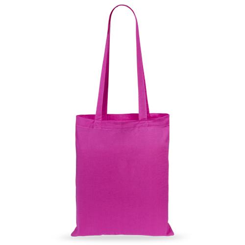 Bolsa algodón color fuxia