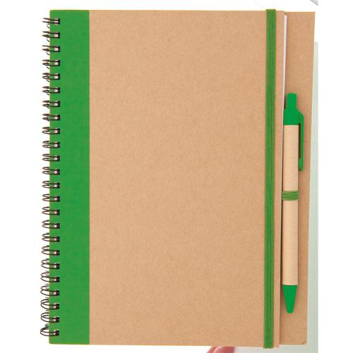 Libreta cartón reciclado verde