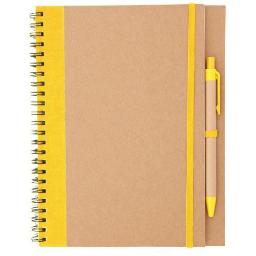 Libreta cartón reciclado  amarillo