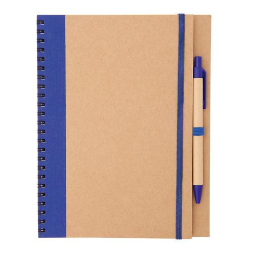 Libreta cartón reciclado  azul