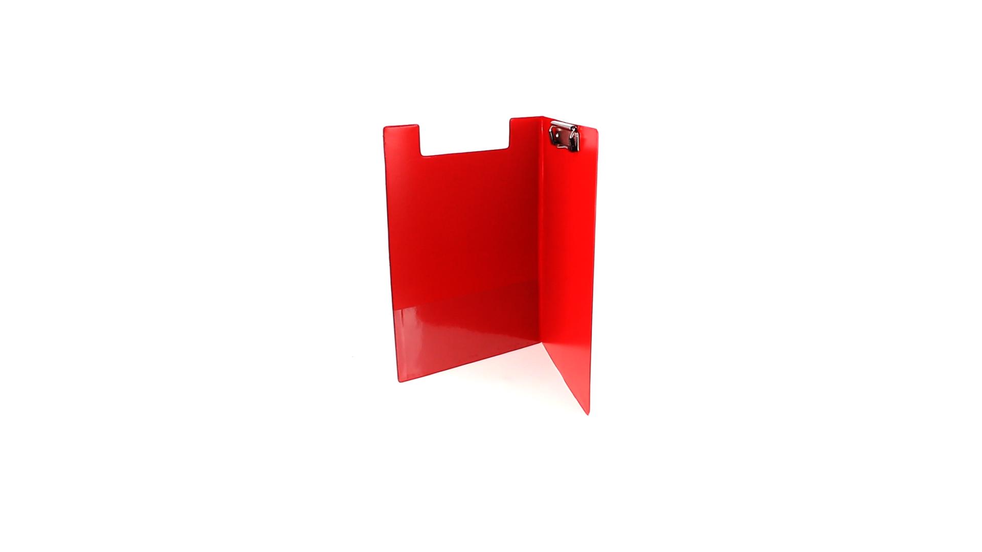 Carpeta Pvc con clik rojo interior