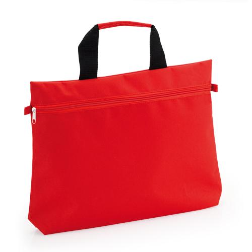 Portadocumentos básico poliéster 600D rojo