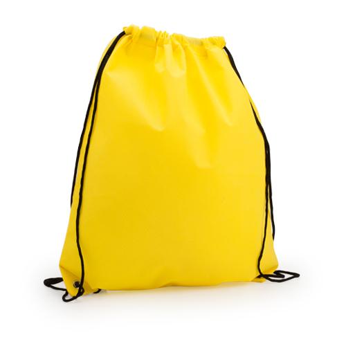 Mochila plana non woven amarilla