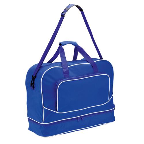 Bolso de poliéster con zapatero azul