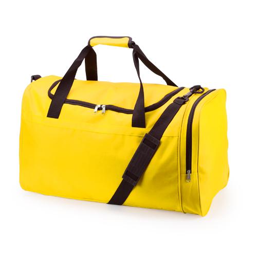 Bolso de poliéster con compartimiento de zapatos amarillo