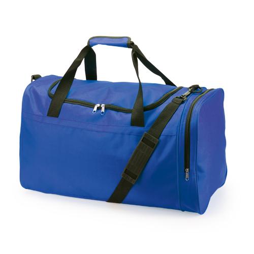 Bolso de poliéster con compartimiento de zapatos azul