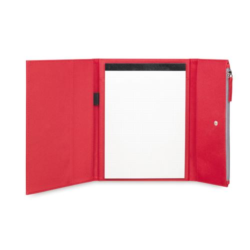 Carpeta microfibra con estuche rojo
