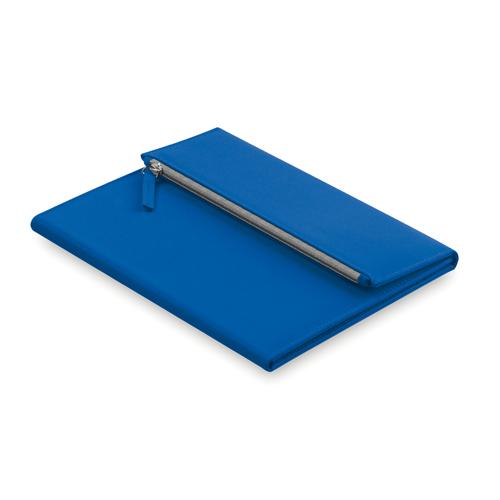 Carpeta microfibra con estuche azul