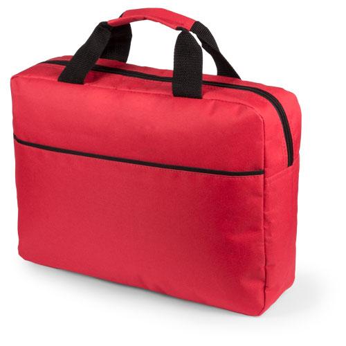 Portadocumentos básico poliéster con fuelle rojo