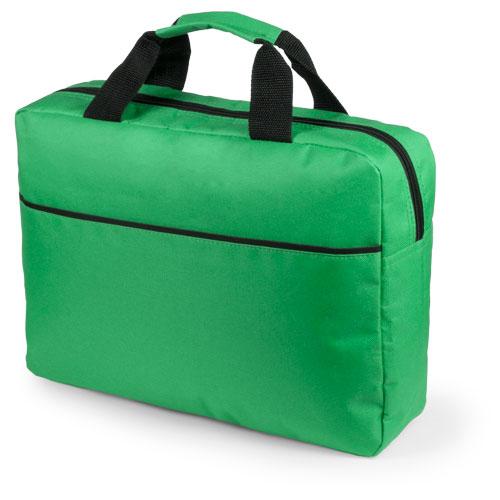 Portadocumentos básico poliéster con fuelle verde