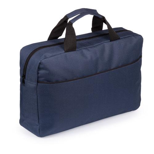 Portadocumentos básico poliéster con fuelle azul