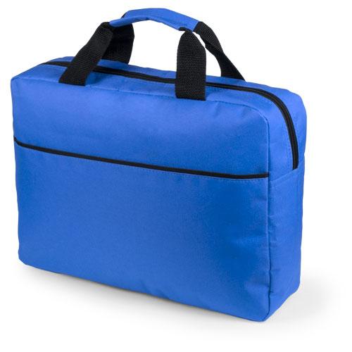 Portadocumentos básico poliéster con fuelle azul royal