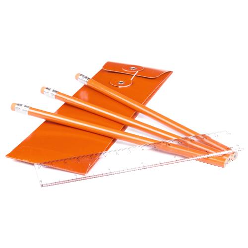 Lápiz madera set naranja