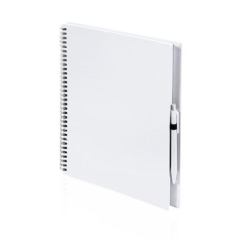 Libreta cartón reciclado grande blanco