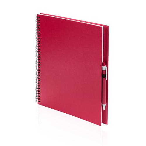 Libreta cartón reciclado grande roja