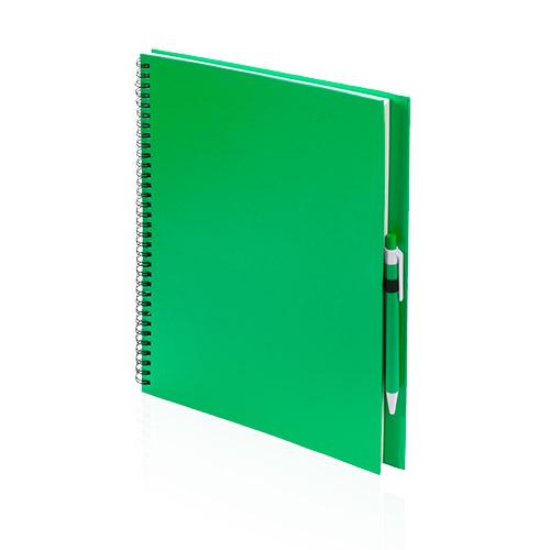 Libreta cartón reciclado grande verde