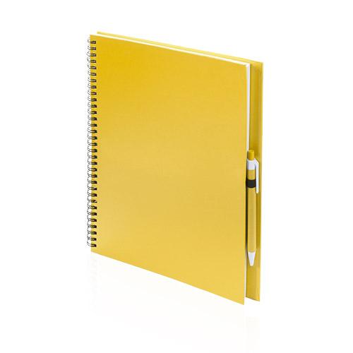 Libreta cartón reciclado grande amarillo