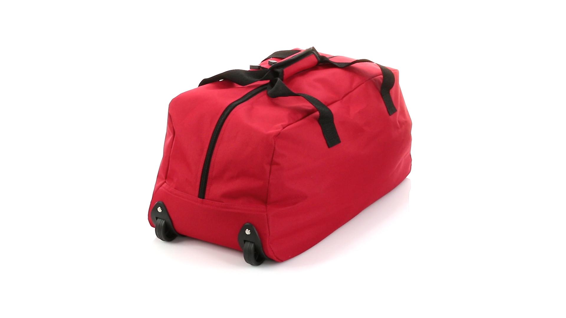Bolso Trolley rojo trasera