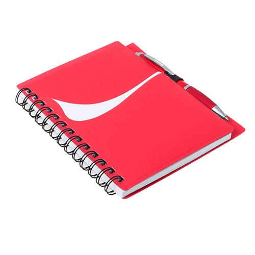 Libreta con bolsillo rojo