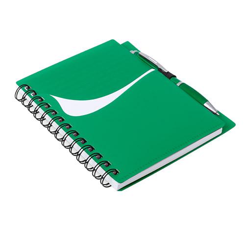 Libreta con bolsillo verde