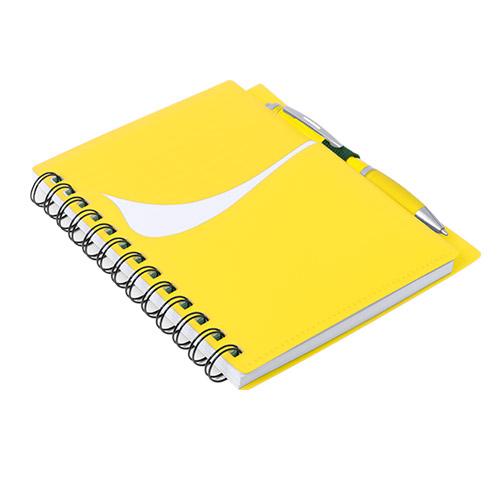 Libreta con bolsillo amarillo