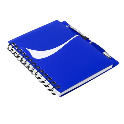 Libreta con bolsillo azul