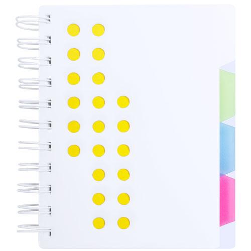 Libreta con separadores amarillo