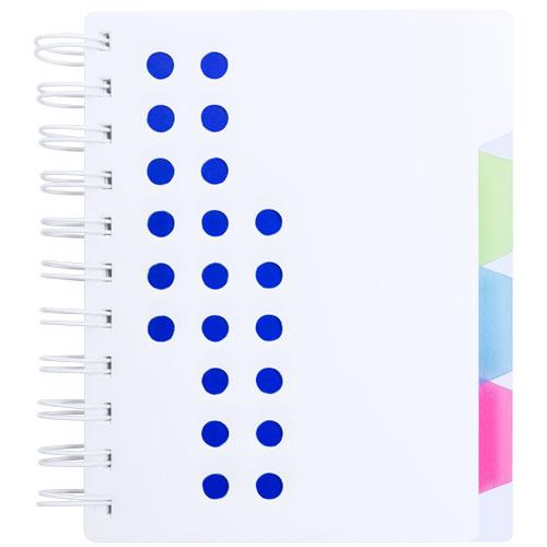 Libreta con separadores azul
