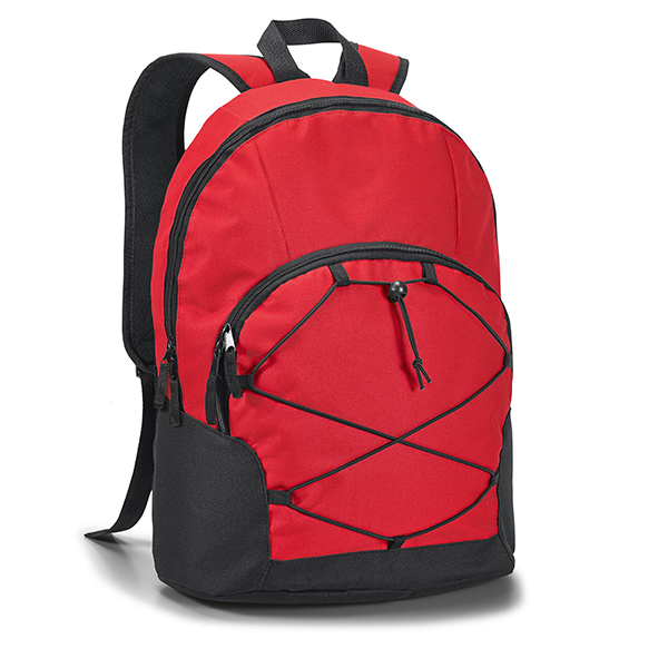 Mochila con compartimiento de PC rojo
