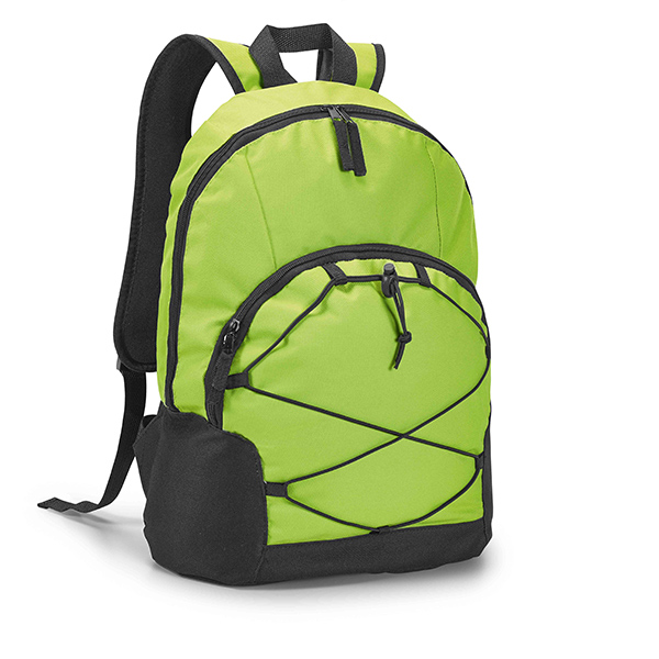 Mochila con compartimiento de PC verde