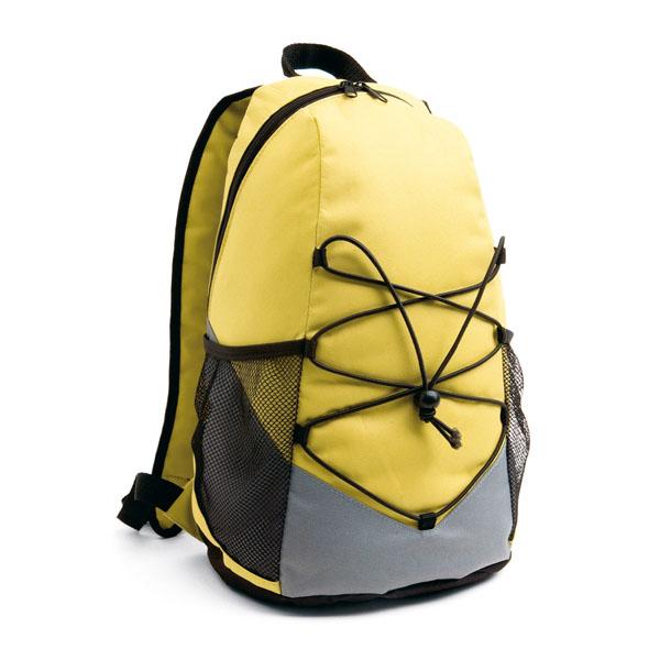 Mochila 600 D  con ajustes amarilla