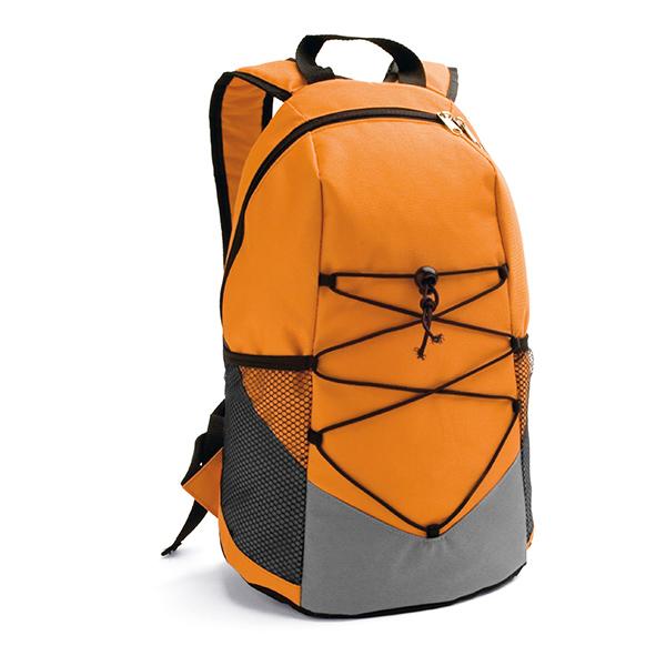Mochila 600 D  con ajustes naranja
