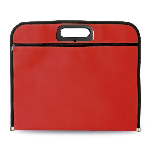 Portadocumentos básico poliéster rojo