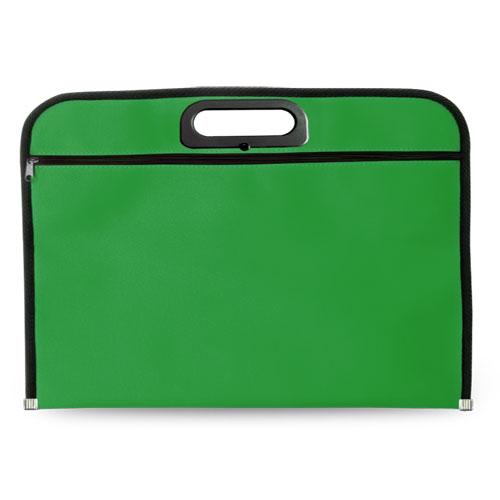 Portadocumentos básico poliéster verde