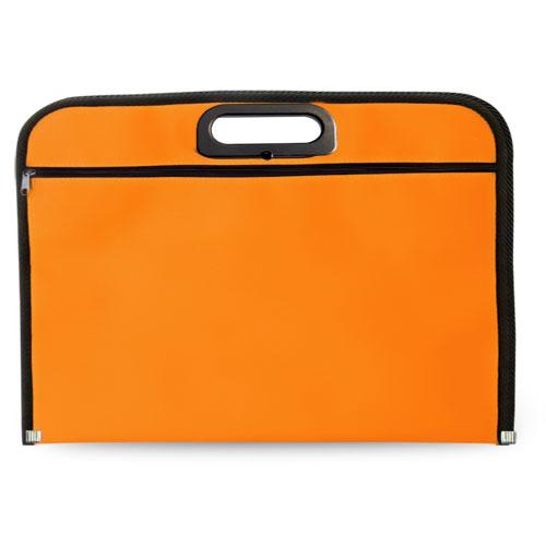 Portadocumentos básico poliéster naranja