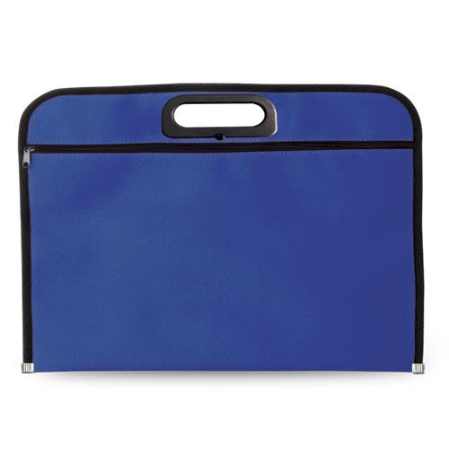 Portadocumentos básico poliéster azul royal