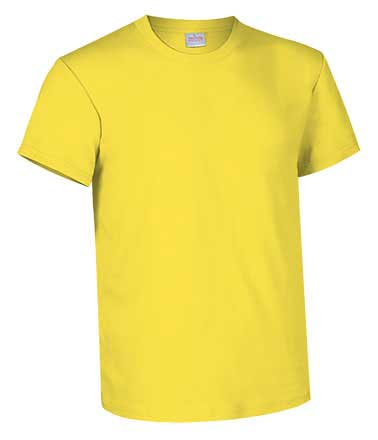 Camiseta de Algodón 135grs. color amarillo