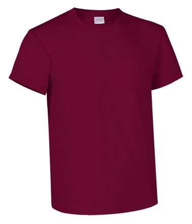Camiseta de Algodón 135grs. color granate