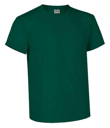 Camiseta de Algodón 160 grs. color  verde botella