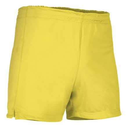 Pantalón corto deportivo amarillo