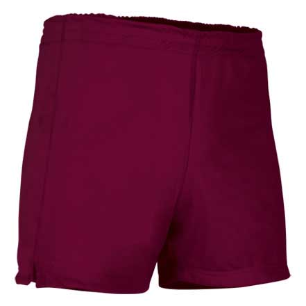 Pantalón corto deportivo granate