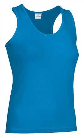 Camiseta mujer tirantes anchos turqueza