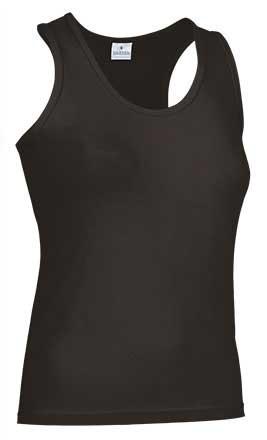 Camiseta mujer tirantes anchos negra