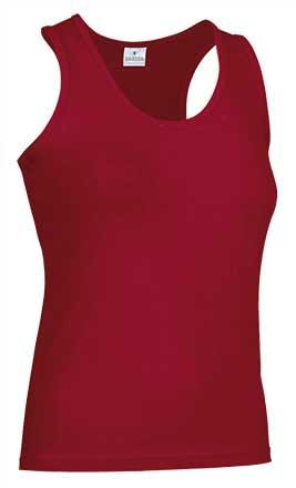 Camiseta mujer tirantes anchos rojo