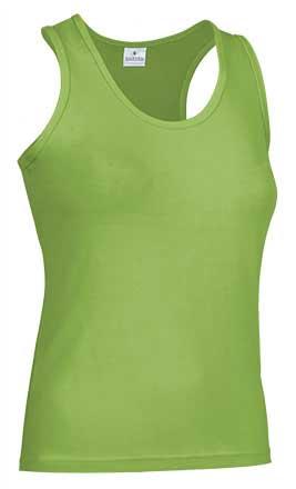 Camiseta mujer tirantes anchos verde manzana
