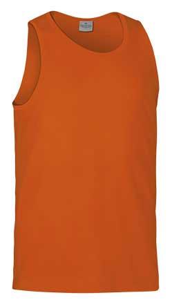Camiseta de Algodón sin mangas unisex naranja