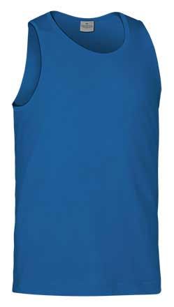 Camiseta de Algodón sin mangas unisex azul royal